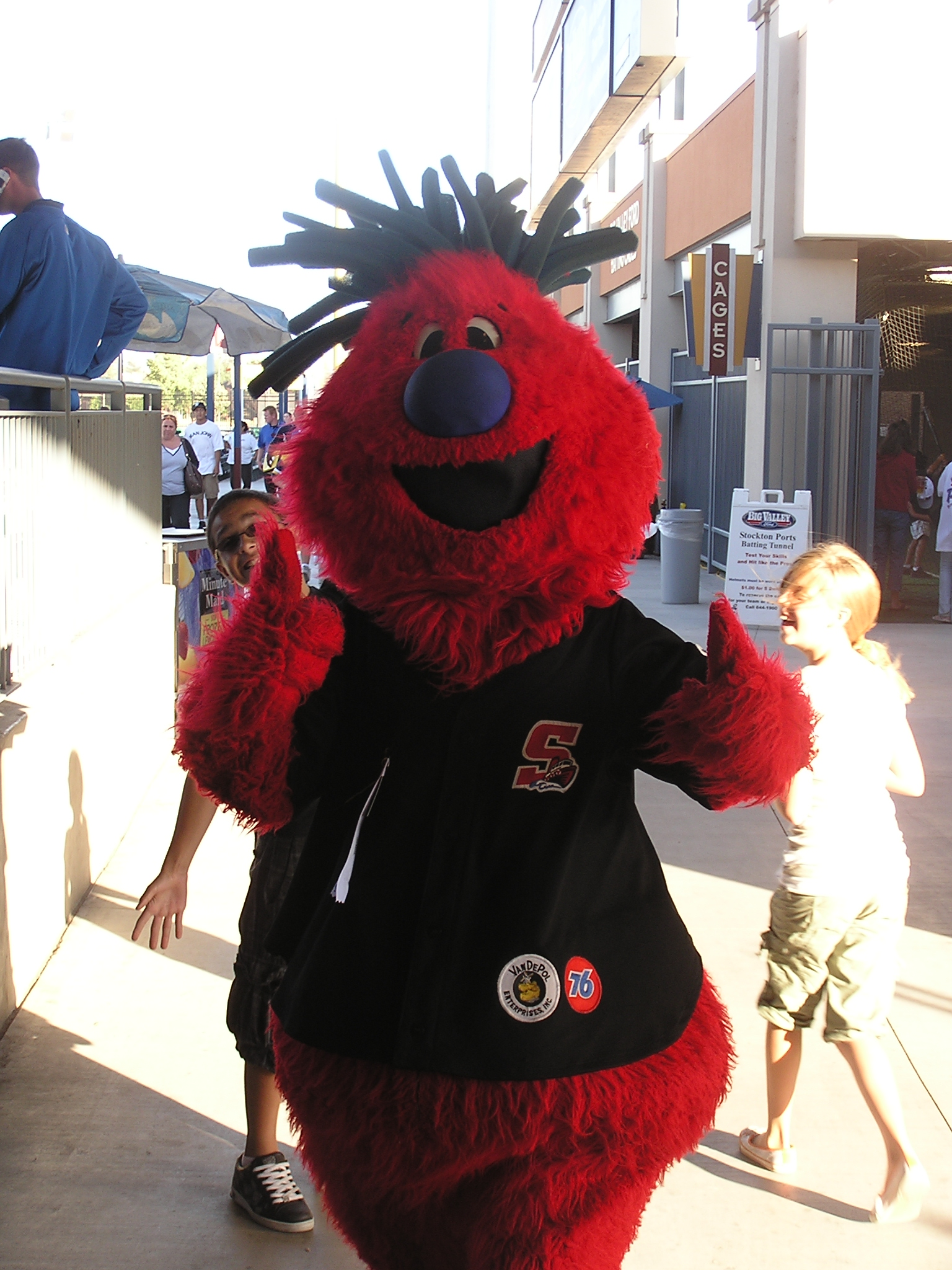 Splash, the Ports Mascot - Stockton, California