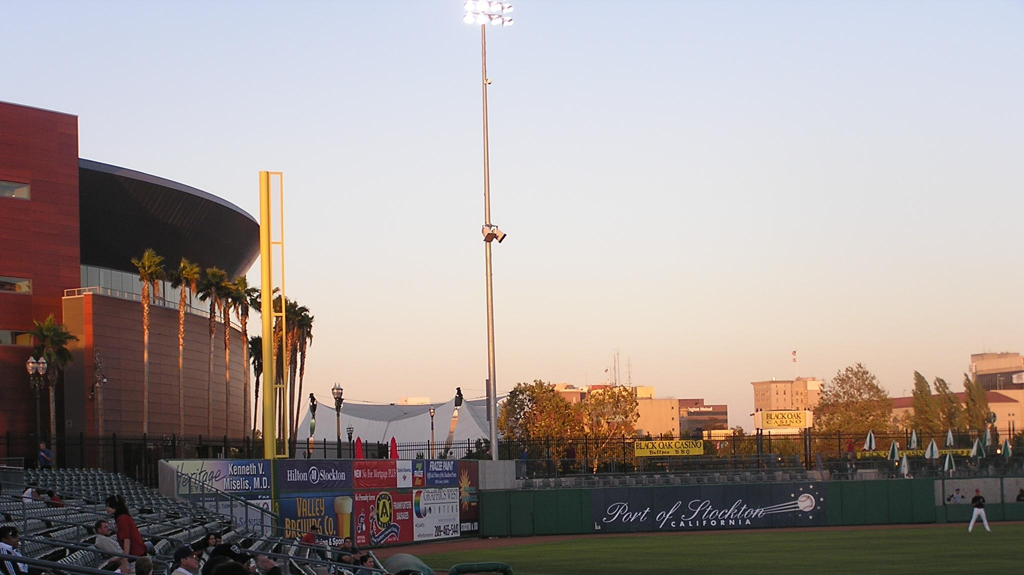 Dusk in Stockton- Banner Island Ballpark